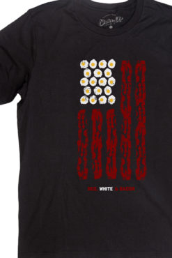 Red white bacon flag tee