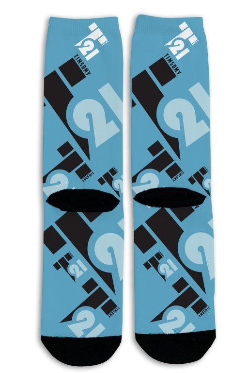 Timsomy 21 logo socks