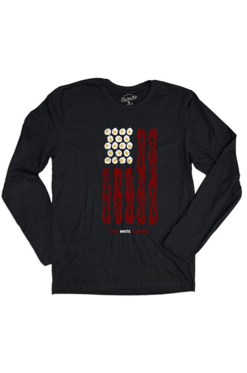 Mens_Black_LS_Red_White_Bacon_Front